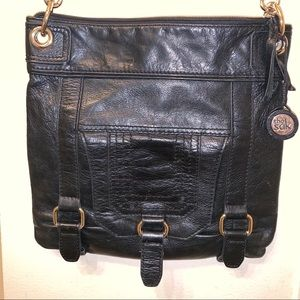 The Sak  black leather crossbody bag